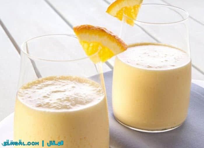 سموثي الليمون والبرتقال