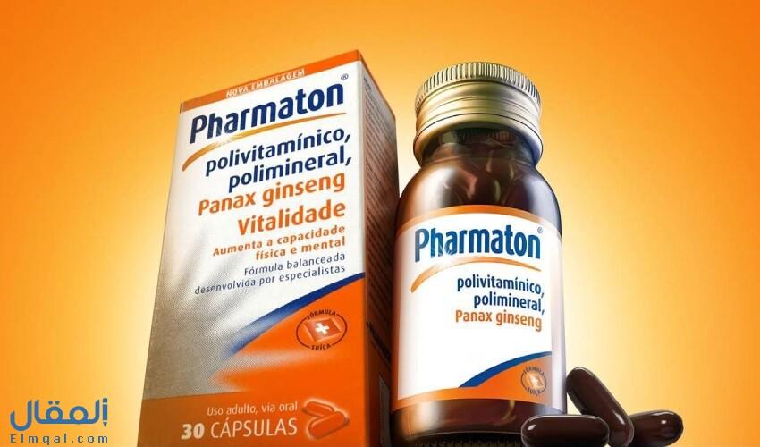 فارماتون Pharmaton كبسولات فيتامينات ومعادن متعددة مع الجنسنج لمقاومة الإجهاد وتنشيط الذاكرة