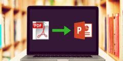 تحويل الملفات من PDF إلى ppt) powerpoint)