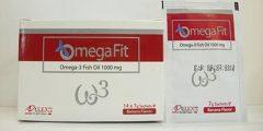 اوميجا فيت أكياس Omega fit مكمل غذائي؛ أحماض الأوميجا 3 ولبن السرسوب بنكهة الكوكتيل