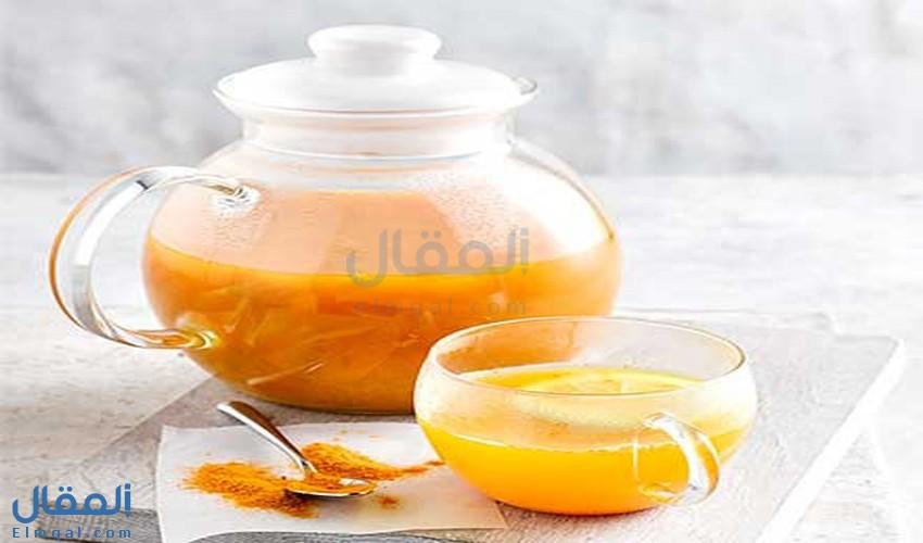 فوائد شاي الكركم Turmeric Tea الصحية وبعض التحذيرات الهامة قبل تناوله