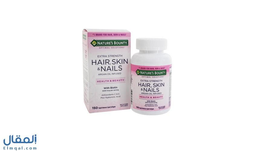 هير سكن اند نيلز حبوب Hair Skin And Nails بيوتين وكولاجين للشعر والأظافر والبشرة